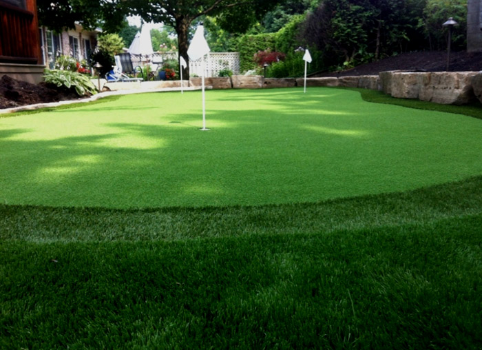 Imitation turf putting gree